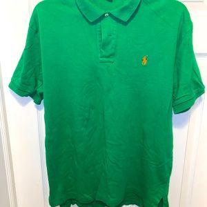 Green/Orange Ralph Lauren Polo Shirt